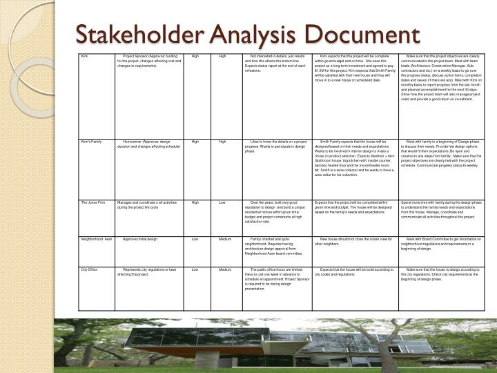 Stakeholder Analysis Document