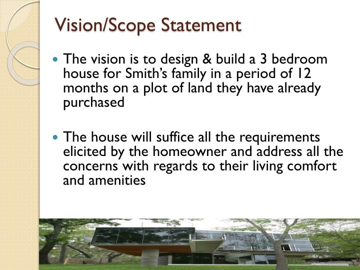 Vision/Scope Statement