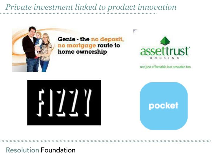 Private investment linked to product innovation