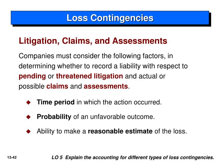 Loss Contingencies