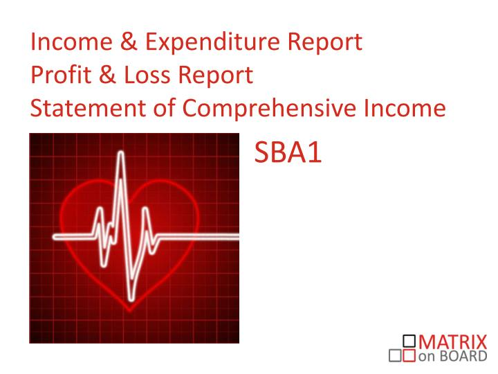 Income & Expenditure Report