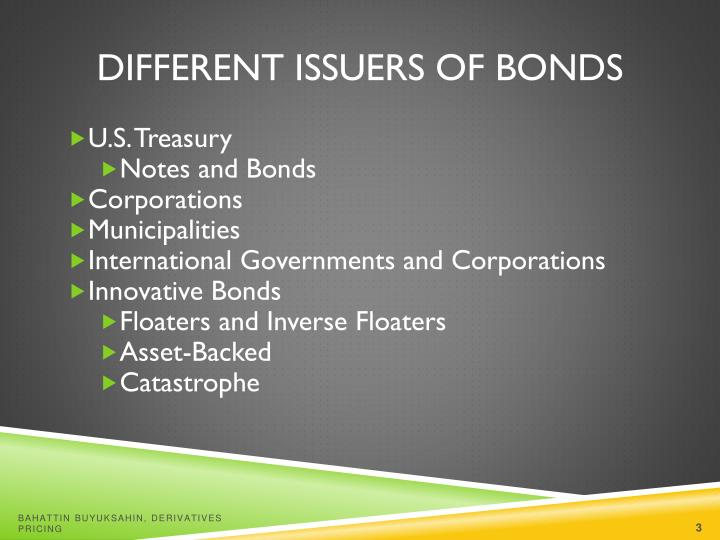 Different issuers of bonds