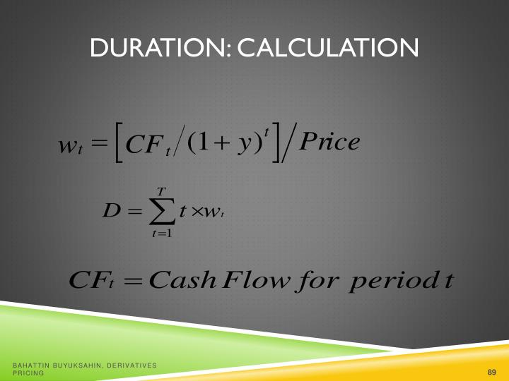 Duration: Calculation