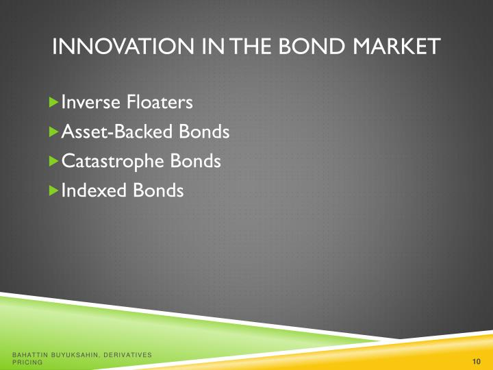 Innovation in the Bond Market