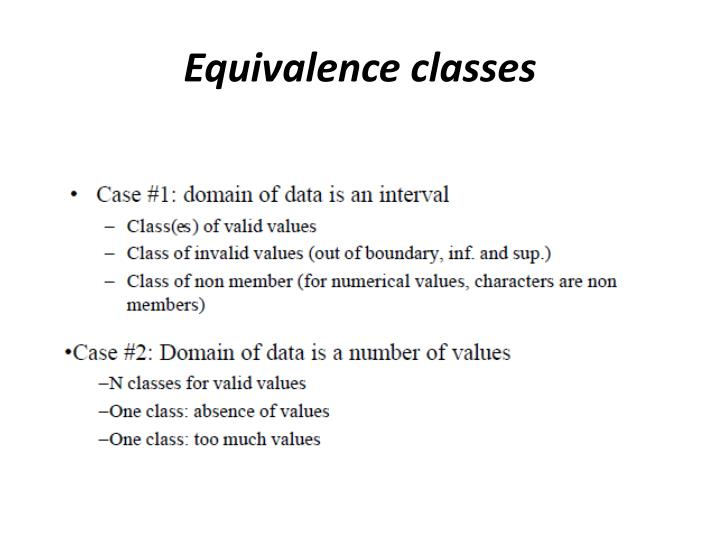 Equivalence classes1
