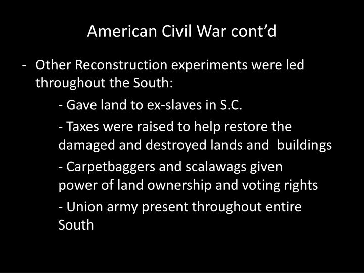 American Civil War cont'd