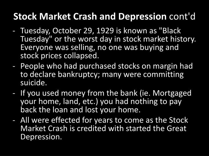 Stock Market Crash and Depression