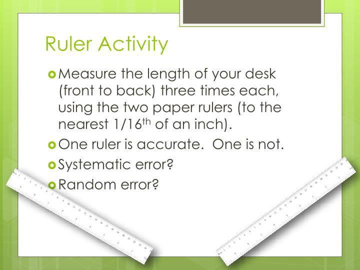 Ruler Activity