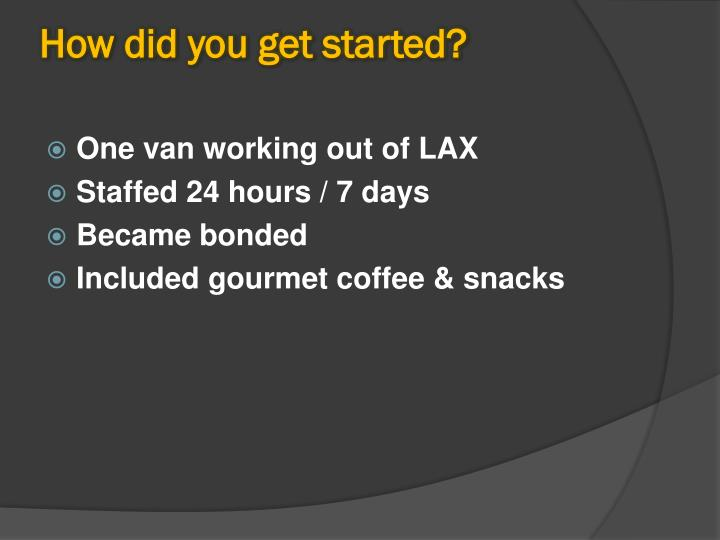 How did you get started?