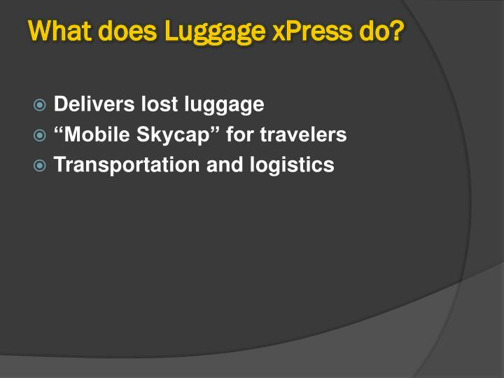 What does luggage xpress do