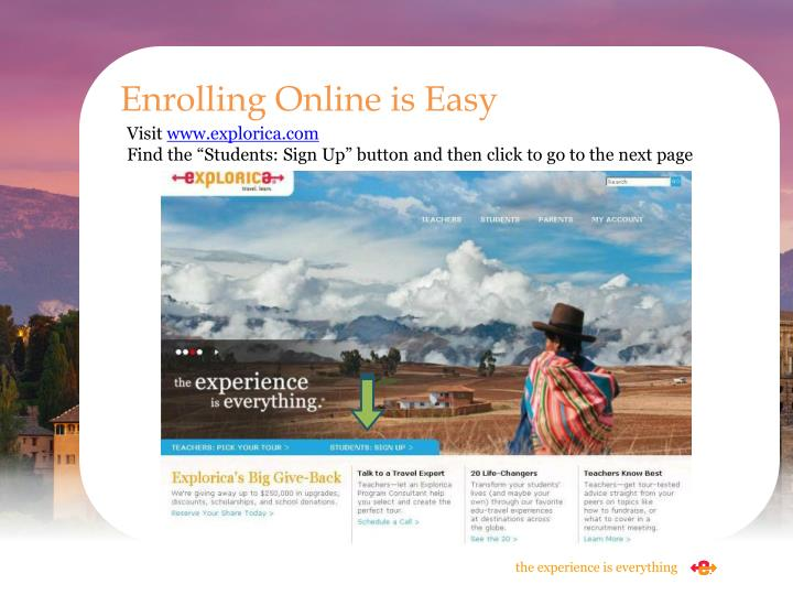 Enrolling Online is Easy