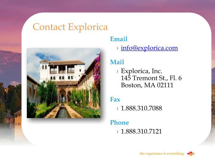 Contact Explorica