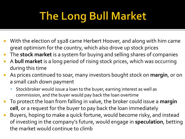 The long bull market