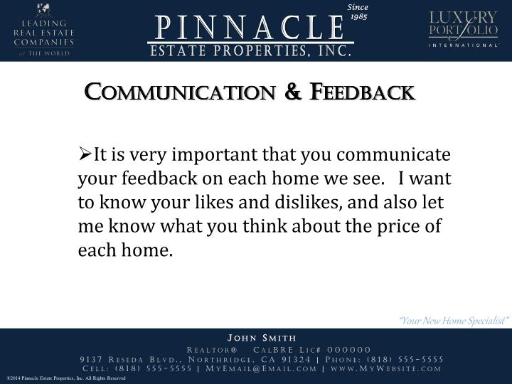 Communication & Feedback