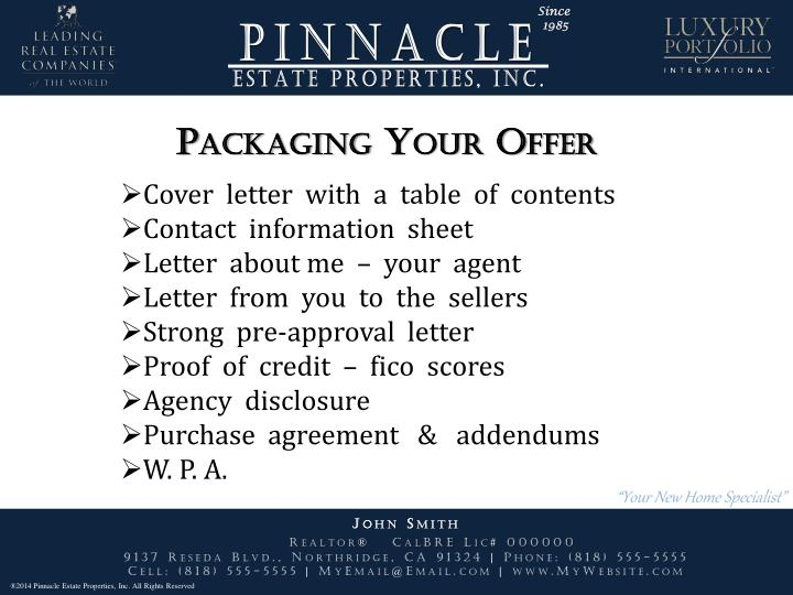 Packaging Your Offer