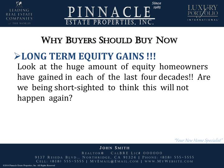 Why Buyers Should Buy Now