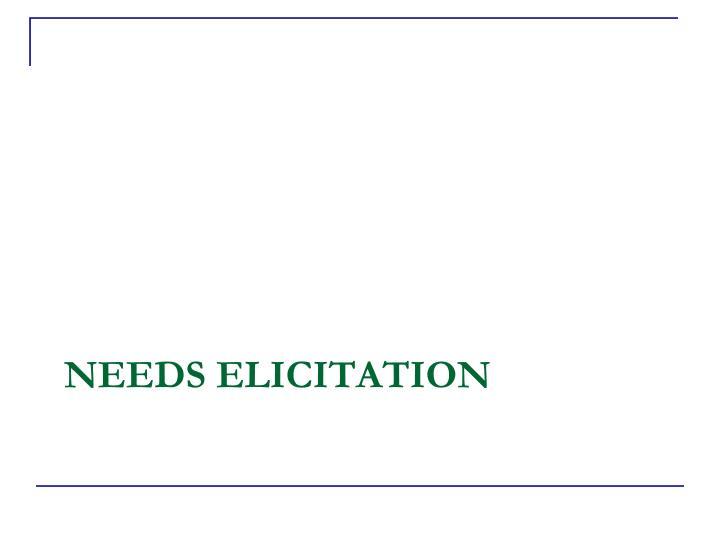 Needs Elicitation
