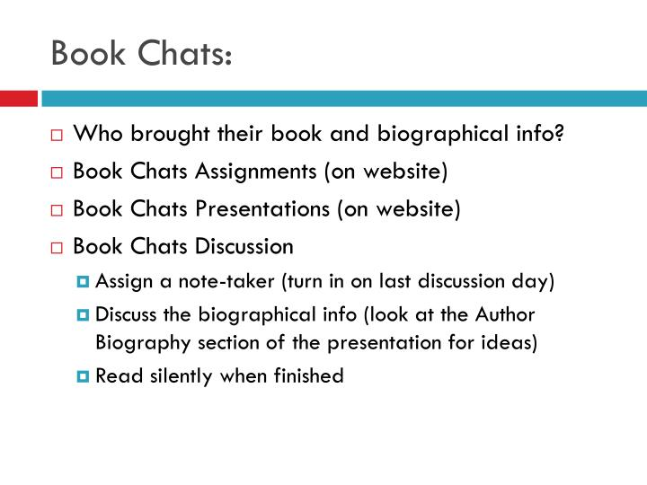 Book Chats: