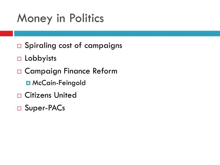 Money in Politics