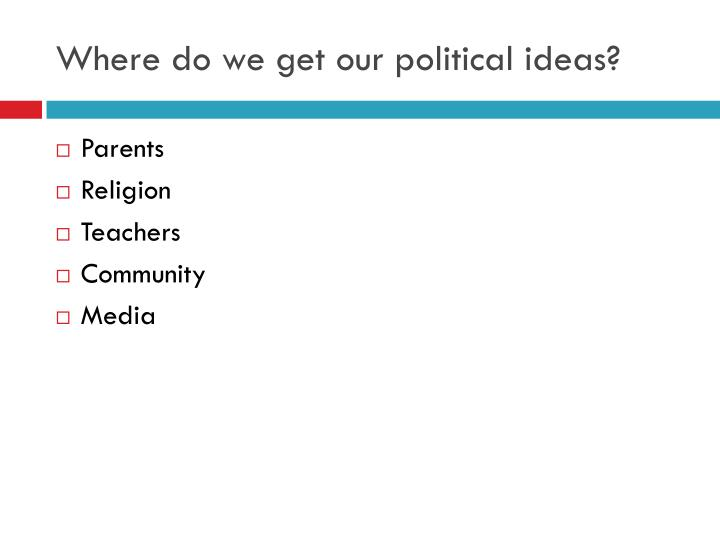 Where do we get our political ideas?