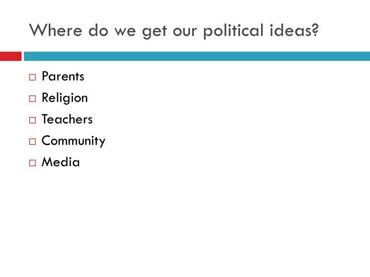 Where do we get our political ideas?