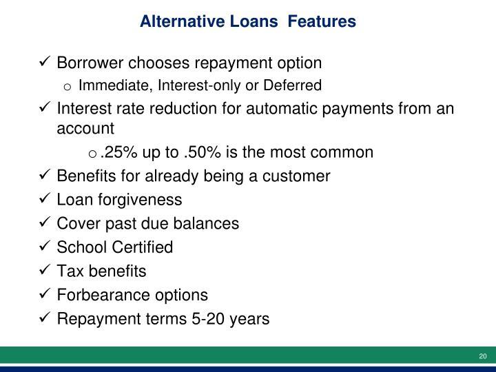 Alternative Loans