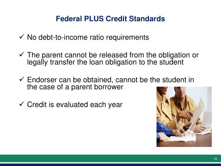 Federal PLUS Credit Standards