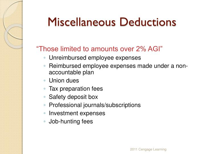PPT - CHAPTER 5 Itemized Deductions & Other Incentives ...