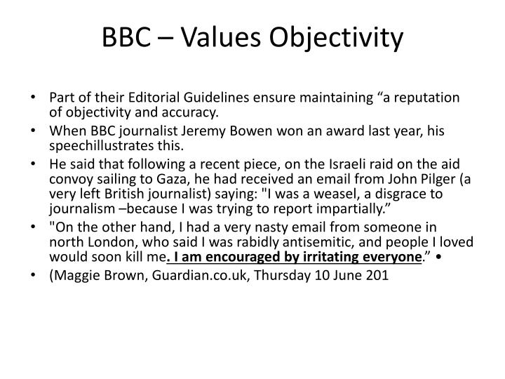 BBC – Values Objectivity