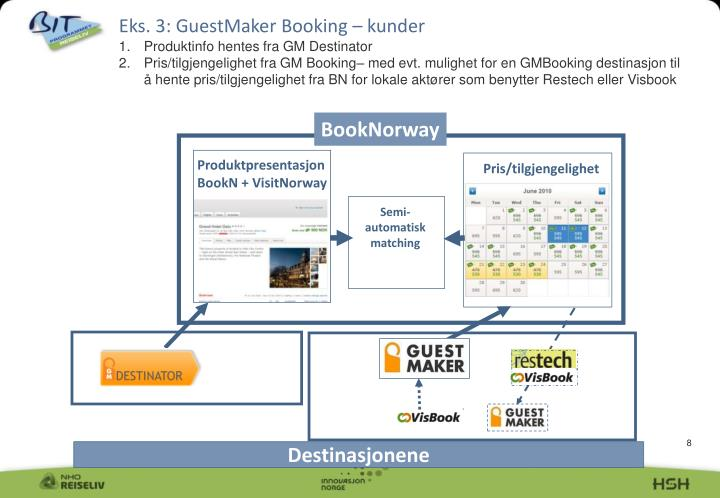 Eks. 3: GuestMaker Booking