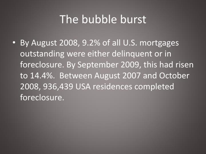 The bubble burst