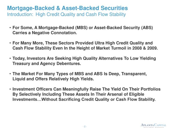 Mortgage-Backed & Asset-Backed Securities