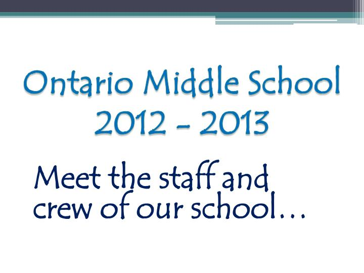 Ontario Middle School