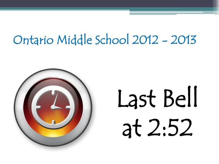 Ontario Middle School 2012 - 2013