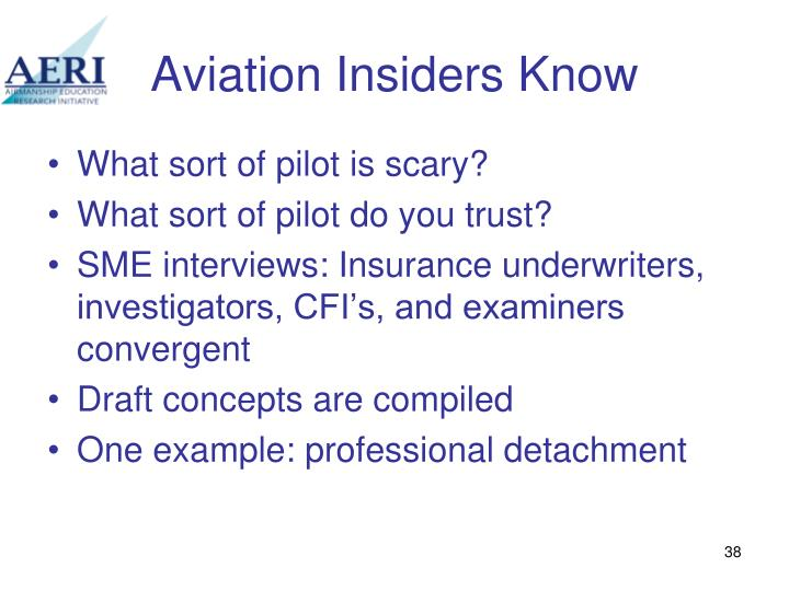 Aviation Insiders Know