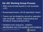 ga jsc working group process