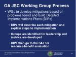 ga jsc working group process1