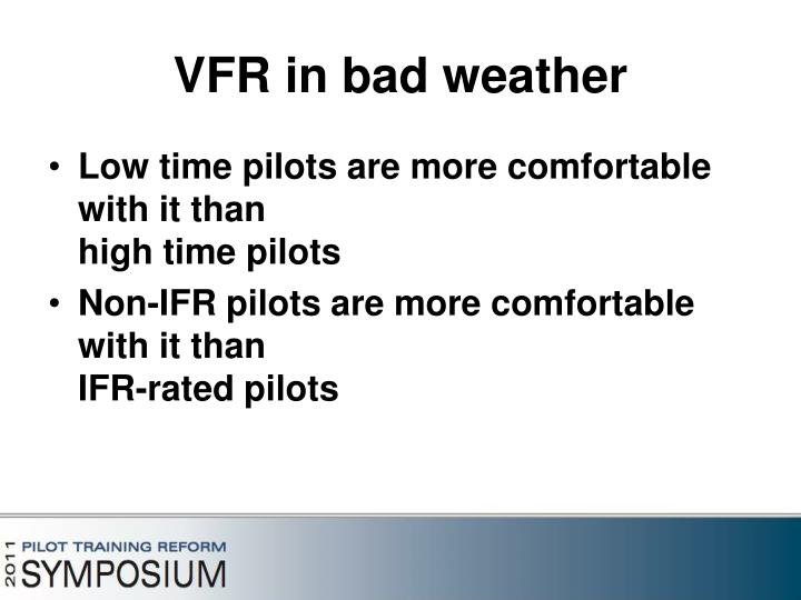 VFR in bad weather