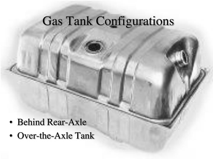 Gas Tank Configurations