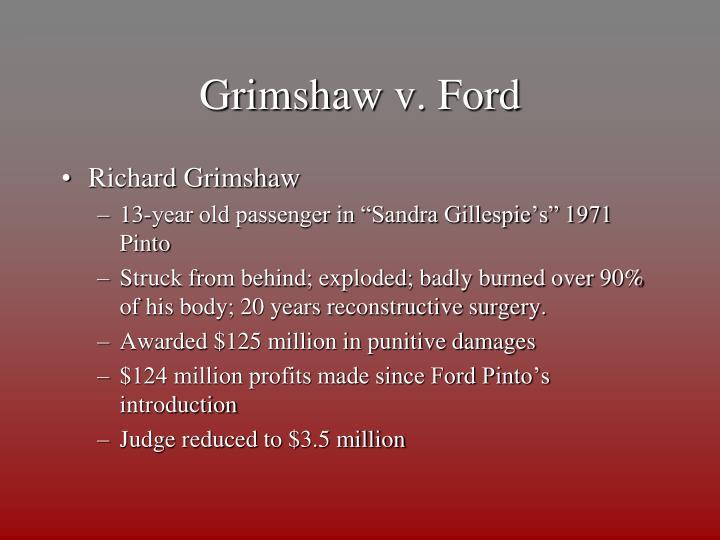 Grimshaw v. Ford