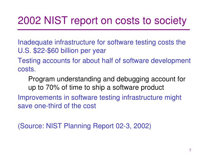 2002 NIST report on costs to society