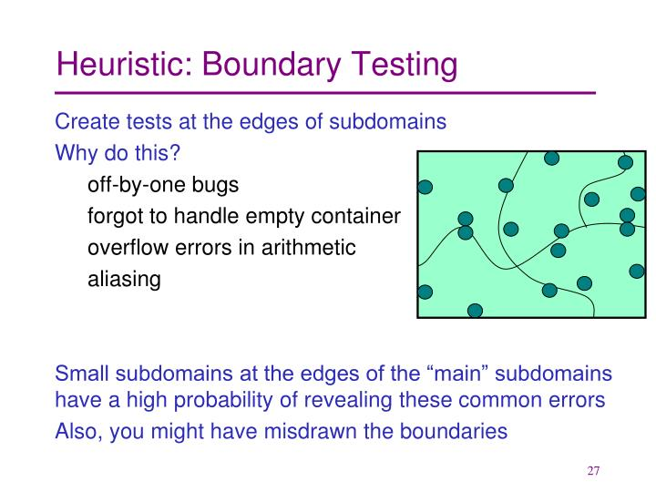 Heuristic: Boundary Testing