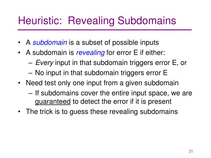 Heuristic:  Revealing Subdomains