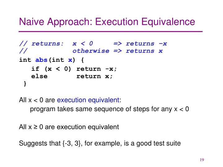 Naive Approach: Execution Equivalence