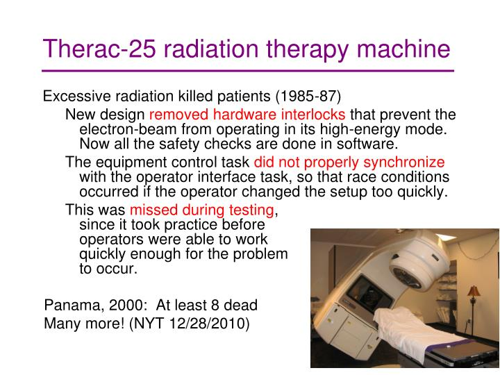 Therac-25 radiation therapy machine