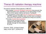 therac 25 radiation therapy machine