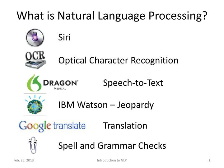 What is natural language processing