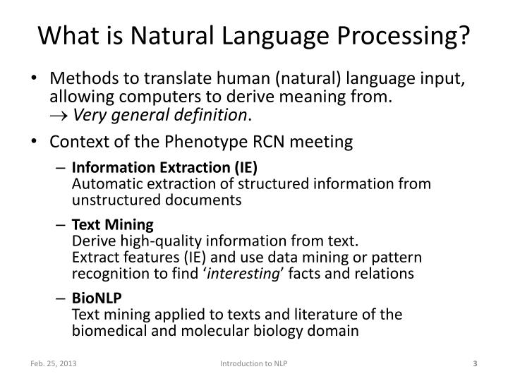 What is natural language processing1