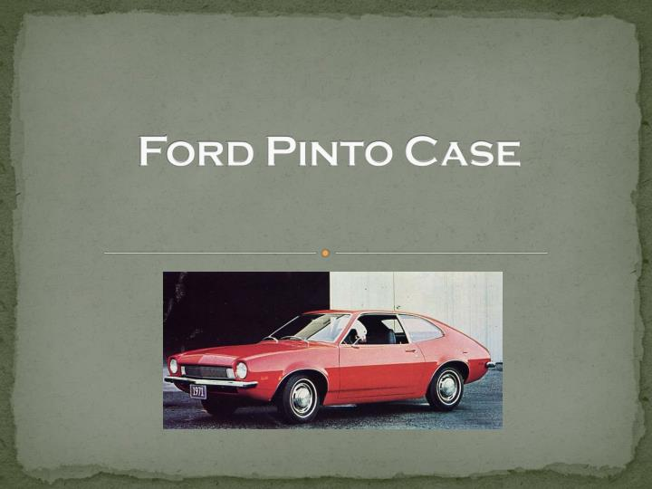 ford pinto case essay