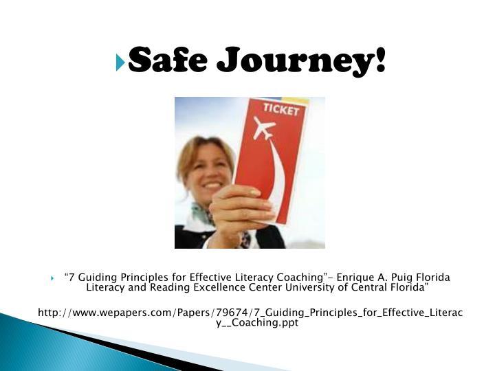 Safe Journey!